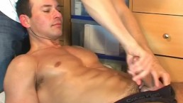 Marco's huge cock get wanked a lot by me !