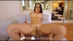 4K Tiny4K - Sexy tiny Dillion Harper loves fucking a gigantic cock