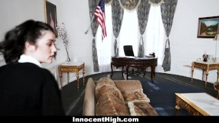 InnocentHigh - Sneaky Student Fucked In The Oval Office