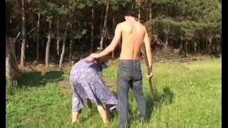 Horny Farm Boy Fucks A Redhead Mature Outdoors Chubby ass