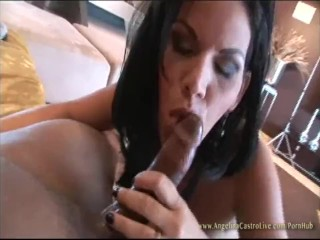 Sex Amateur Vids Angelina Castro Swallows all the Cum after Big Facial from Black Cock