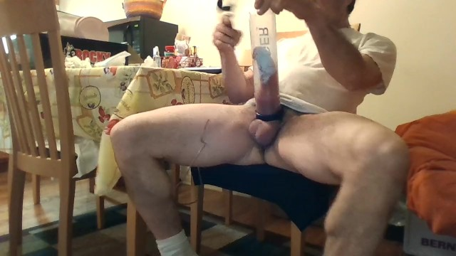 Male penis pumps in action 12 inch penis pump