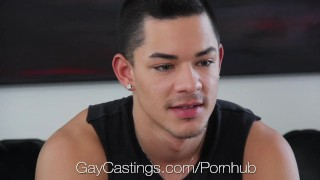 HD GayCastings - Ethan shows his deepthroat talent at his audition Gay jerking