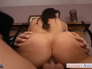 Takes Suck Dick Good Anal Fucking, Brunette babe Kortney Kane suck and fuck a big cock
