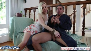 Sweet blonde Ashley Fires fuck her neighbor Cock mouth