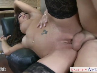 Stockinged wife Capri Cavanni fucking