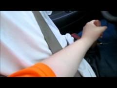 Mom teach to drive while she jacks hi...