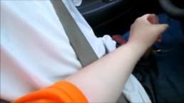 Mom teach to drive while she jacks him off and make him cum a huge load