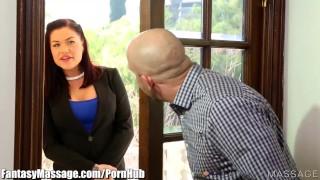 FantasyMassage Karmen Karma blindfolds Horny Client