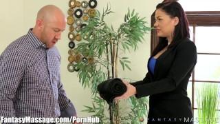 Blindfolds karmen karma fantasymassage horny client big blowjob
