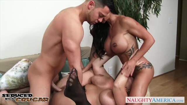 Jewel jayde hardcore Chesty cougars alura jenson and jewels jade sharing a big cock