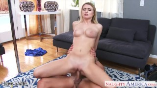 Busty wife Natalia Starr gets pink snatch fucked