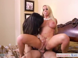 Sex Sech Engines Hot Wives Lisa Ann And Nikki Benz Sharing A Big Dick