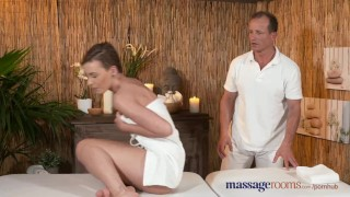 Massage Rooms Stunning young athletic model cums multiple times Pussy tits