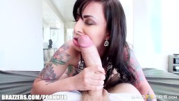 Tattooed babe Dollie Darko loves anal - Brazzers
