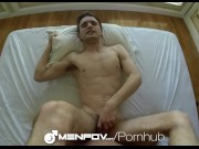 HD MenPOV - Cute guy comes hard on his friend in POV
