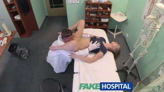 FakeHospital Innocent blonde gets the doctors massage Doggystyle big
