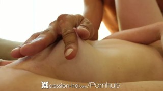 HD Passion-HD - Little redhead Alex Tanner rides hard dick
