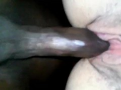 long thick bbc..creamed...by phat juicy ass an phat creamy pussy