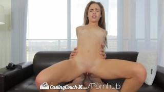 HD CastingCouch X Short cutie Natasha White shoots her first porn