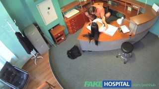 FakeHospital Businessman gets seduced by sexy nurse in stockings