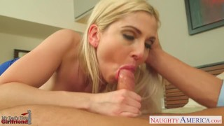 Blonde gets stevens nailed ass gf christie mydadshotgirlfriend naughty