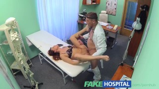 FakeHospital Beautiful brunettes wet pussy gets doctors cock  lingerie pussy-eating babe point-of-view doggy-style doctor hardcore young brunette reality european hospital fakehospital
