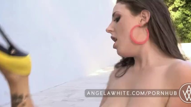 White bits on penis Bit natural tits angela white and asa akira hot lesbian sex