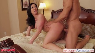 Chesty mom Kendra Lust gets facial Bang ass