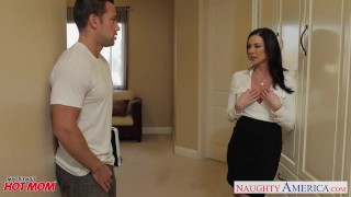 Chesty mom Kendra Lust gets facial Tits double