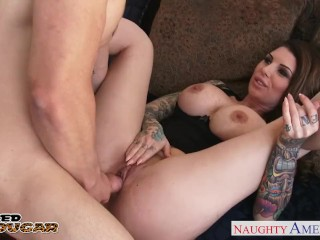 Horny tattooed cougar Darling Danika fucking