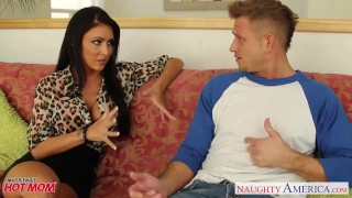 Preview 1 of Brunette mom Jessica Jaymes gets facial jizzed