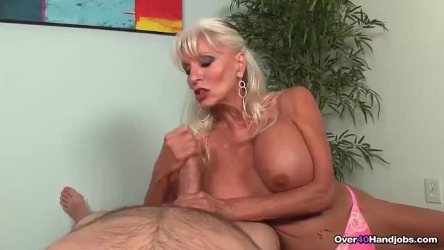 Granny 40 tits Granny loves jerking cocks