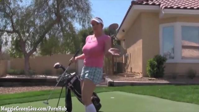 Big boobs golfing golfers Big tit golfer maggie gets hole in one