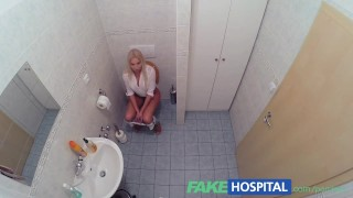 FakeHospital Horny busty blonde receives a creampie from the doctor  babe creampie sexy amateur blowjob blonde doctor big-boobs pov hospital hardcore reality fakehospital uniform orgasm clinic