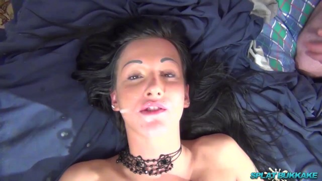 Uk pornstar Gorgeous uk babe chantelle fox gangbanged and takes cum in her face