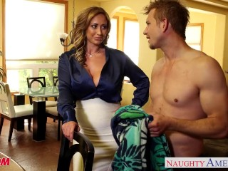 Preview 3 of Nasty mom Eva Notty fucking dick with her tits