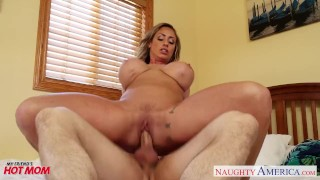 Nasty mom Eva Notty fucking dick with her tits Mff bent