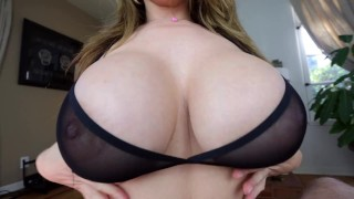 Kianna Dior - Sheer Bra Titfuck  tease big-tits tit-fuck point-of-view tittyfuck asian canadian big-boobs titty-fuck brunette titty fuck pov foreplay big-dick pov tittyfuck