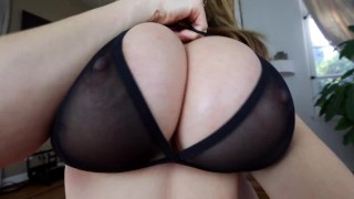 Kianna Dior - Sheer Bra Titfuck  point of view big tits tease tittyfuck asian canadian big dick brunette pov tittyfuck big boobs titty fuck titty fuck pov foreplay tit fuck