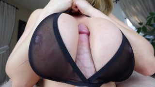 Kianna Dior - Sheer Bra Titfuck  point of view big tits tease tittyfuck asian canadian big dick brunette foreplay pov tittyfuck big boobs titty fuck titty fuck pov tit fuck