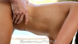 Passion-HD - Busty Anissa Kate has oiled slippery pussy fucked