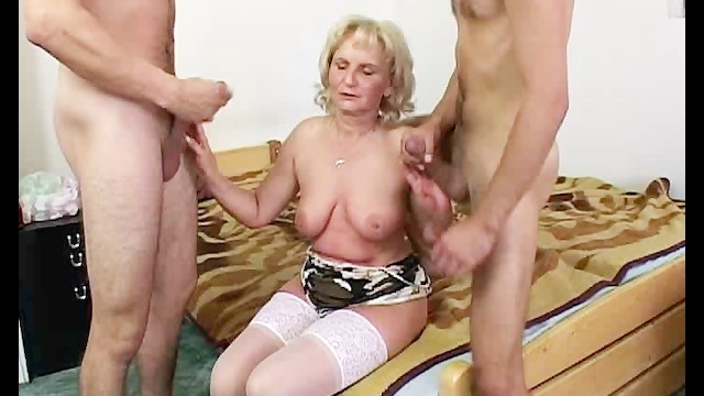 Milf computer geek Computer geeks gets warmed up by a mature blonde