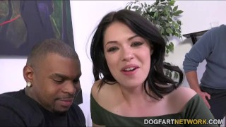 Cuckold watches Ava Dalush takes a black cock