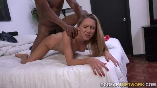 Hollie Mack's first interracial scene Sex tits