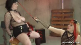 And girlfriend mistress fingers brings with to lesbian toys orgasm sex dildo spanking