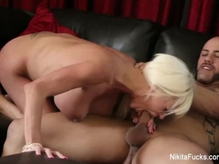 Nikita Von James gets fucked by a hard cock POV style