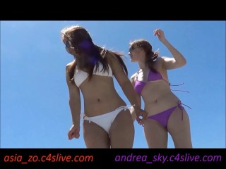 Dancing on a beach- andrea sky