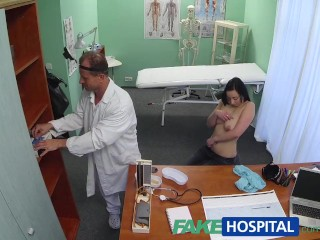 Boot Cum High Over Thigh FakeHospital Hot babe wants her Doctor to suck her tits