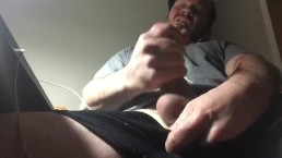 Solo masturbation intense orgasm and cum shot